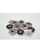Кнопка пришивная декоративная серебряная 19 мм KN-V 15112001