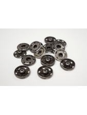 Кнопка пришивная декоративная темное серебро 19 мм KN-V 15112006