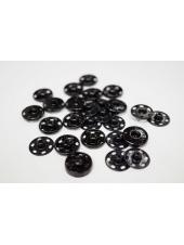 Кнопка пришивная декоративная черная 16 мм KN-V 15112007
