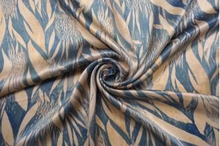 Атлас шелковый абстрактные листья Forte Forte TR-АА4 25112029