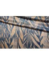 Атлас шелковый абстрактные листья Forte Forte TR 25112029