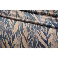 ОТРЕЗ 1,55 М Атлас шелковый абстрактные листья Forte Forte TR-(34)- 25112029-2