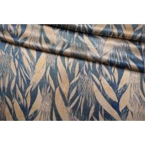 ОТРЕЗ  1.4 М Атлас шелковый абстрактные листья Forte Forte TR-(34)- 25112029-1