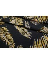 Шелк листья на черном Forte Forte TR 25112031