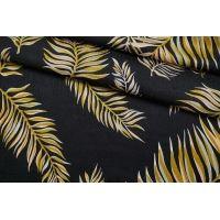 ОТРЕЗ 0,5 М Шелк листья на черном Forte Forte TR.H-(32)- 25112031-1
