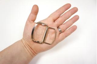 Пряжка двойная металл золотистая 55х36 мм-(T)- 06122003