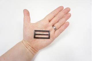 Пряжка металл темный никель 48х25 мм-(Q)- 06122013