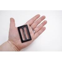 Пряжка пластик темно-коричневая под рог 63х40 мм 21122013