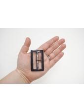 Пряжка пластик темно-коричневая под рог 63х40 мм 21122019