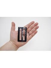 Пряжка пластик черная под рог 75х45 мм 21122023
