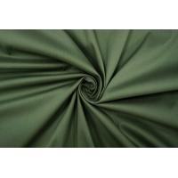ОТРЕЗ 0,75 М Сорочечный хлопок-стрейч темно-зеленый PRT-F4 04022022-1