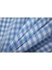 Рубашечная вискоза в бело-голубую клетку PRT-Н4 16012023