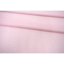 ОТРЕЗ 2,8 М Рубашечный поплин в бело-розовую клетку PRT-(43)- 17012004-1