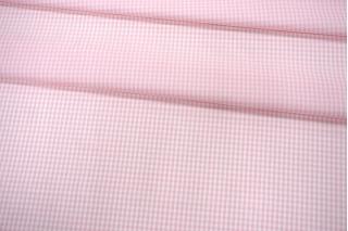 Рубашечный поплин в бело-розовую клетку PRT-F5 17012004