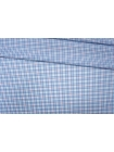 ОТРЕЗ 2,45 М Рубашечный хлопок белый в сине-голубую клетку PRT-(41)- 17012007-1