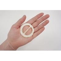 Пряжка круглая пластик ванильная диаметр 55 мм PRT-(R)- 01092018