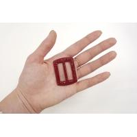 Пряжка пластик темный рубин 46х34 мм PRT-(R)- 01092026
