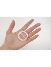 Пряжка круглая пластик белая диаметр 45 мм PRT-(R)- 01092027