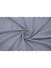 Футер тонкий в полоску бело-синий 2-х нитка IDT-X5 03082003