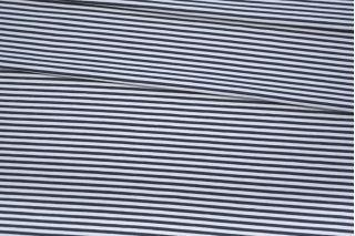 Футер тонкий в полоску бело-синий 2-х нитка IDT.H-X5 03082003
