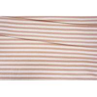 ОТРЕЗ 2,65 М Футер в полоску бело-розовый 3-х нитка IDT-(50)- 03082018 -3