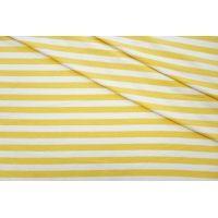 ОТРЕЗ 2,3 М Футер тонкий в полоску желтый 2-х нитка CVT-(56)- 04082017-1