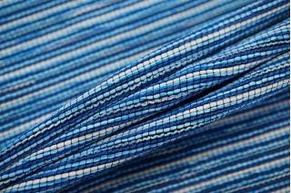 Твид хлопковый сине-голубой в стиле шанель LEO-D1 04092004