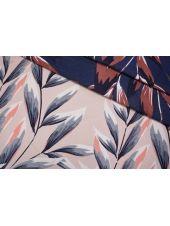 Жаккард листья сине-розовые LEO-ВВ7 04092008