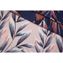 Жаккард листья сине-розовые LEO.H-N70 04092008