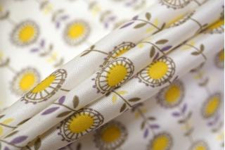 Сатин плательно-блузочный подсолнухи желтые LEO 04092017