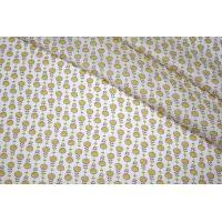 Сатин плательно-блузочный подсолнухи желтые LEO-H5 04092017