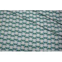 ОТРЕЗ 2,9 М Жаккард мотыльки зеленые LEO-(21)- 04092018-1