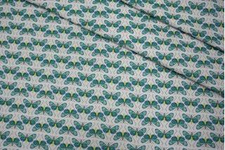 Жаккард мотыльки зеленые LEO 04092018