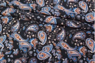 Жаккард огурцы на черном фоне LEO-D1 04092022