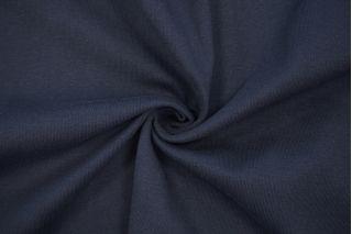 Трикотаж рибана пенье плотный темно-синий CTN.H-X70 19082027