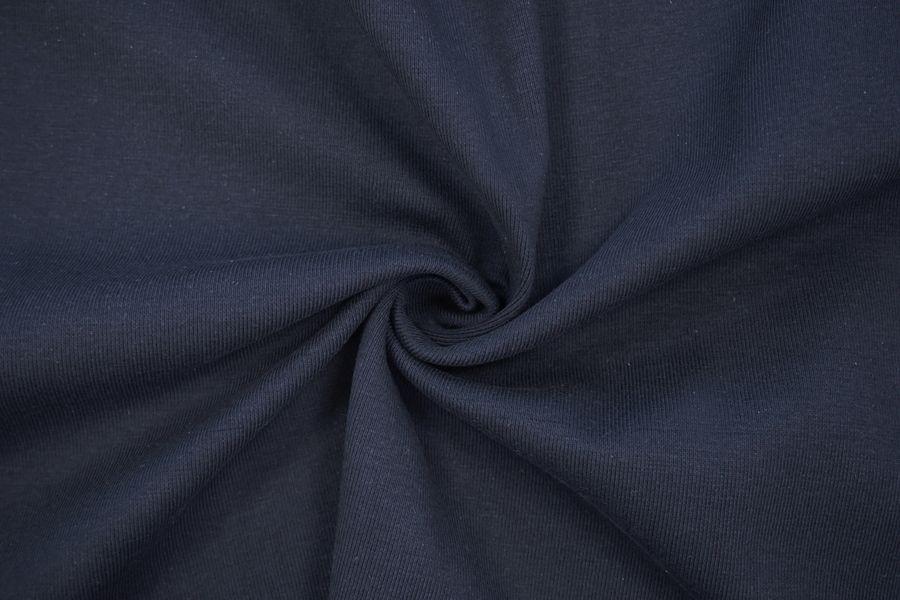ОТРЕЗ 2,5 М Трикотаж рибана пенье плотный темно-синий CTN.H-(26)- 19082027-2