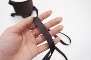 Косая бейка из тафты 14 мм темный баклажан PRT 25082017 к01