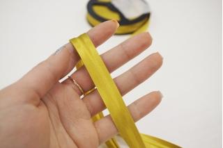 Косая бейка ацетатная 14 мм горчично-желтая PRT 25082047 к03