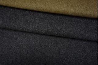 Шерсть пальтовая серый-хаки дабл би-стрейч TXH-DD4 28092011
