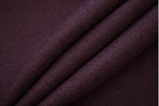 Шерсть пальтовая темно-сливовая дабл би-стрейч TXH-T5 28092017