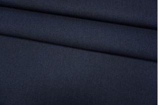 Шерсть пальтовая синяя дабл би-стрейч TXH-EE70 28092019