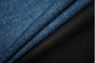 Джерси вискозный синий под джинсу NST 31082015