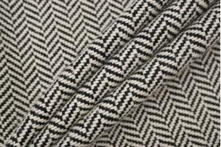 Твид-шанель хлопковый елочка черно-белый NST 31082023