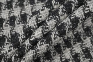 Твид-шанель гусиная лапка черно-серый NST-W 31082036