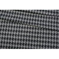 ОТРЕЗ 2,1 М Твид-шанель гусиная лапка черно-серый NST-(40)- 31082036-1