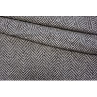 Пальтовый шерстяной твид елочка серый NST-Z1 31082055