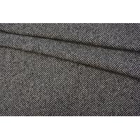 Пальтовый шерстяной твид елочка черный NST-X3 31082058