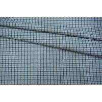 Плательный хлопок с шерстью в клетку голубой NST-W1 31082061