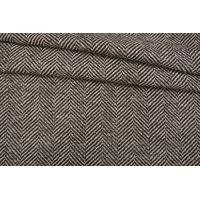 Пальтовый шерстяной твид елочка коричневый NST-X1 31082064
