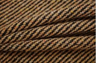 Пальтовый шерстяной твид диагональ бежевая NST-X1 31082065
